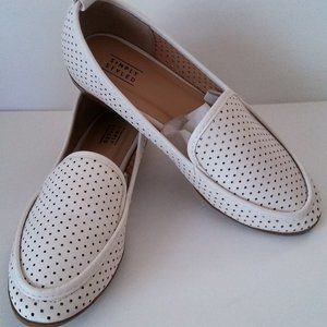 Simply Styled Perry Flats White Loafers Shoes